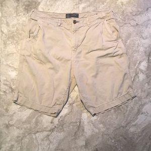 AE light tan shorts